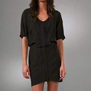 HELMUT LANG Black Pavement Combo Cocktail Dress
